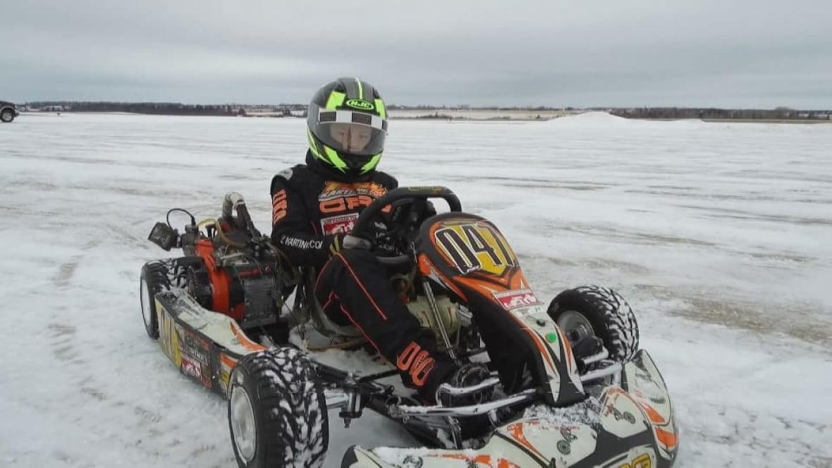 11 year old will lowther takes his go kart for a spin on for Go kart montreal exterieur