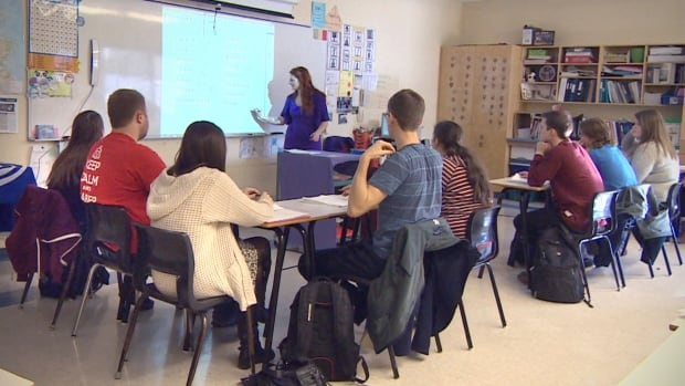 Nova Scotia teacher classroom