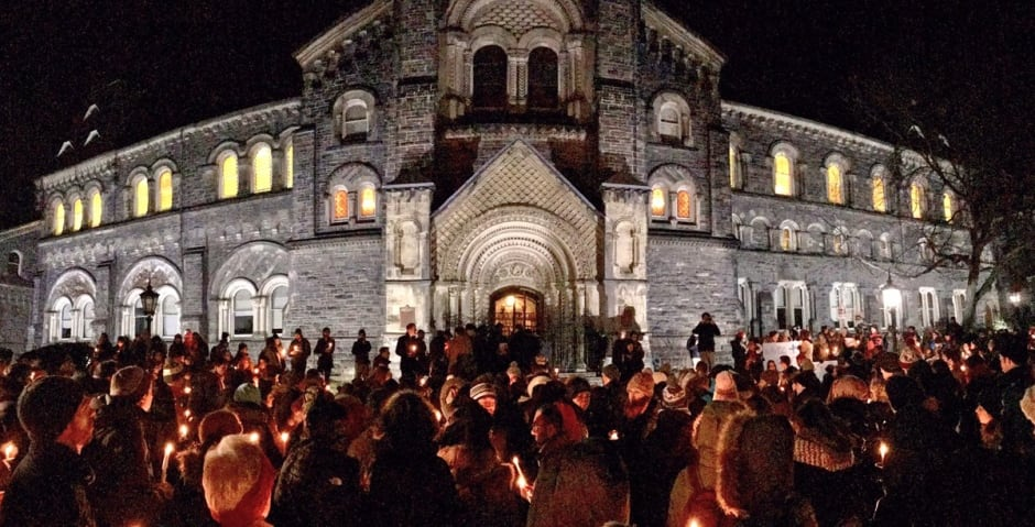 University of Toronto mosque vigil