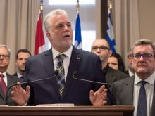 'Words can be knives slashing at people's conscience. And we have to be more cognizant of this,' says Quebec Premier Philippe Couillard.