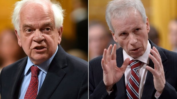Members of Parliament paid tribute to former immigration minister John McCallum, left, and former foreign affairs minister and one-time Liberal Party leader Stéphane Dion.