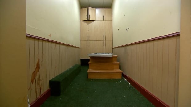 Blood and bullet holes Quebec mosque