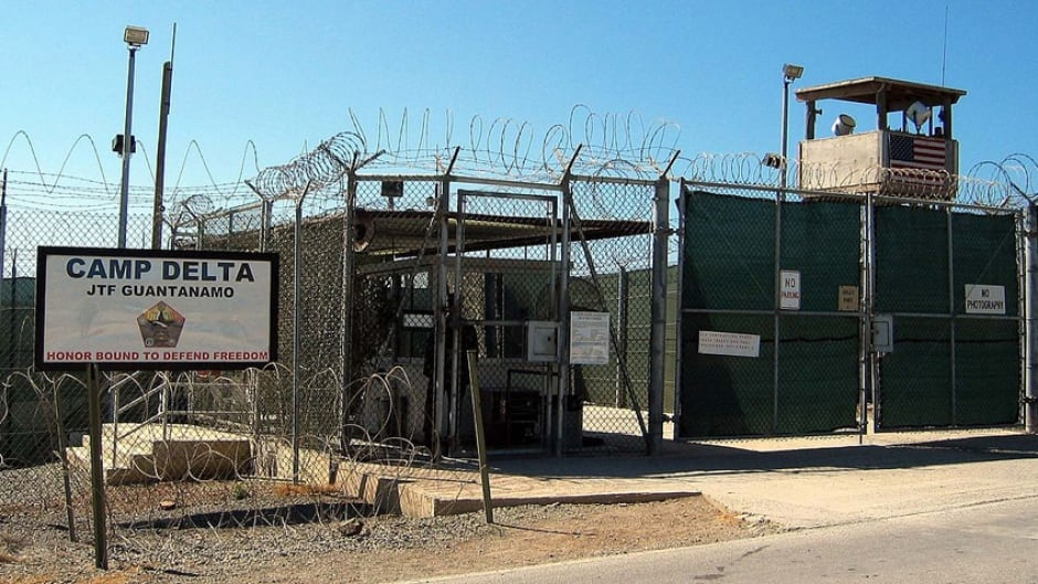 The entrance to Camp 1 in Guantanamo Bay's Camp Delta. The base's detention camps are numbered based on the order in which they were built, not their order of precedence or level of security.