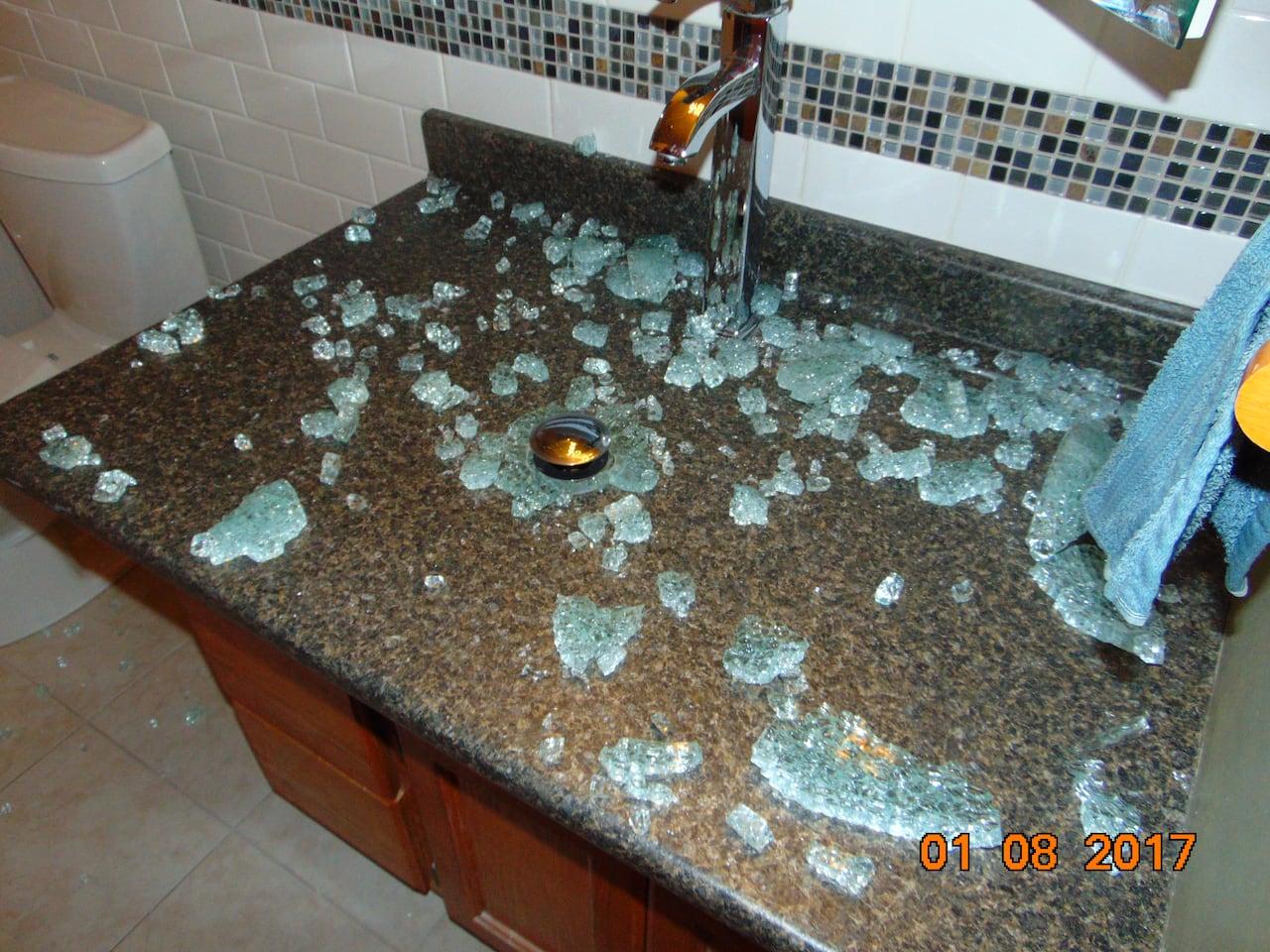 Pleasing B C Family Says Their Glass Bathroom Sink Spontaneously Download Free Architecture Designs Scobabritishbridgeorg