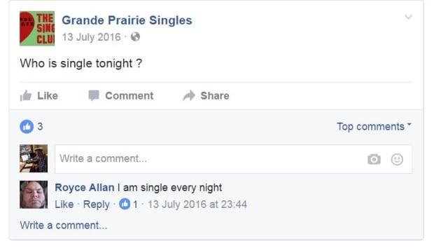 Grande Prairie Singles page
