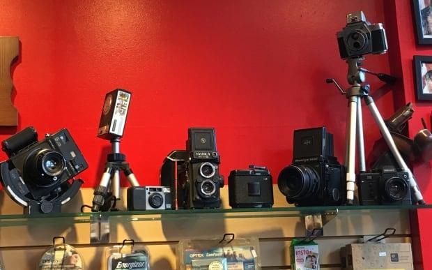 Vintage film cameras