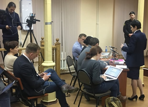 Break in court in Kirov, Russia