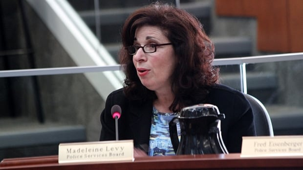 Madeleine Levy, police services board member, has apologized for disparaging remarks she made about Polish people late last year.
