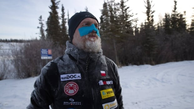 Polish runner Michal Kielbasinski set off from Whitehorse on Monday. He plans to run the entire 1,600 kilomtre Yukon Quest trail to Fairbanks, Alaska.