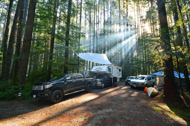 Campers at Gordon Bay Provincial Park on Vancouver Island.