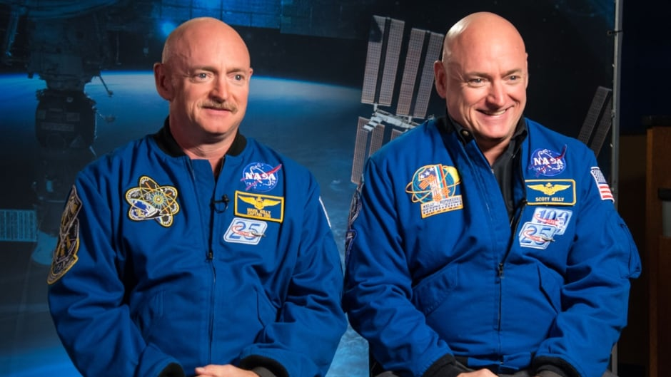 Expedition 45/46 Commander, Astronaut Scott Kelly along with his brother, former Astronaut Mark Kelly speak to news media outlets about Scott Kelly's 1-year mission aboard the International Space Station. January 19, 2015.