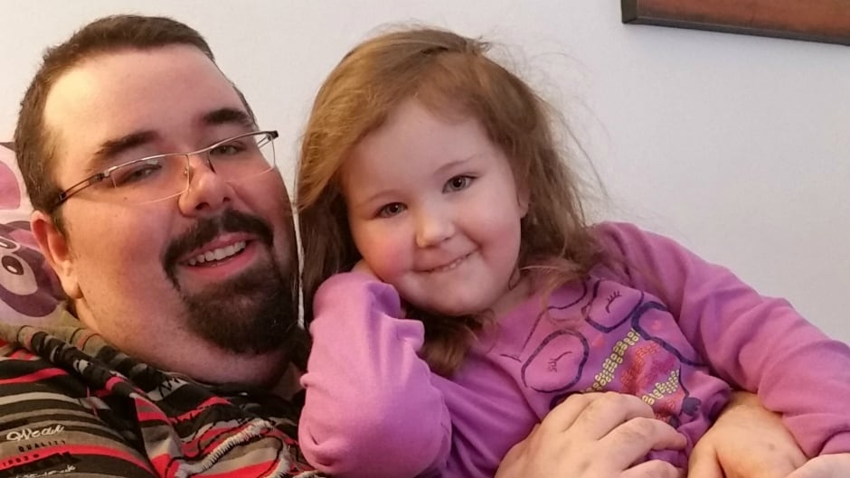 Maxime Fiset and his 4-year-old daughter, Rosalie.
