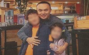 Lyndon Chen and his children