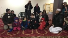families at open mosque day