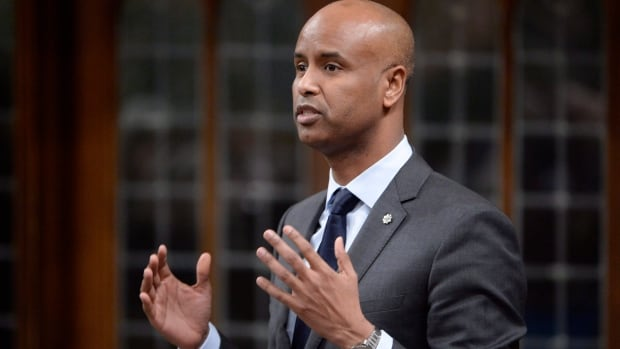 Minister of Immigration, Refugees and Citizenship Ahmed Hussen answers a question in the House of Commons in Ottawa on Jan.31. He said Canada does not intend to change its 2017 immigration plan to accommodate 40,000 refugees.