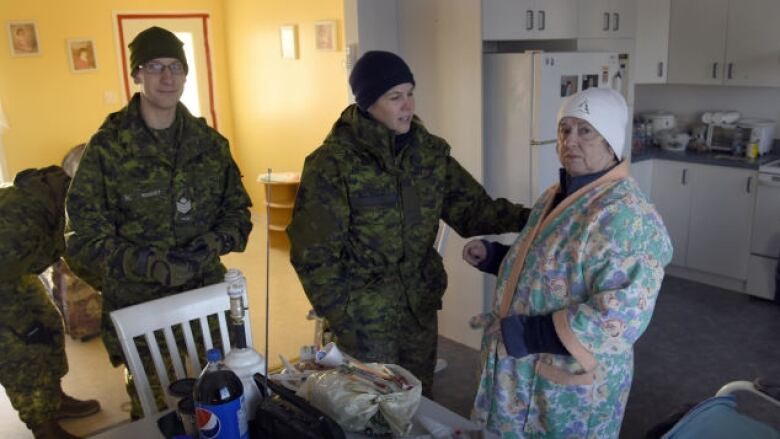canadian forces help rescue residents from cold homes cbc news