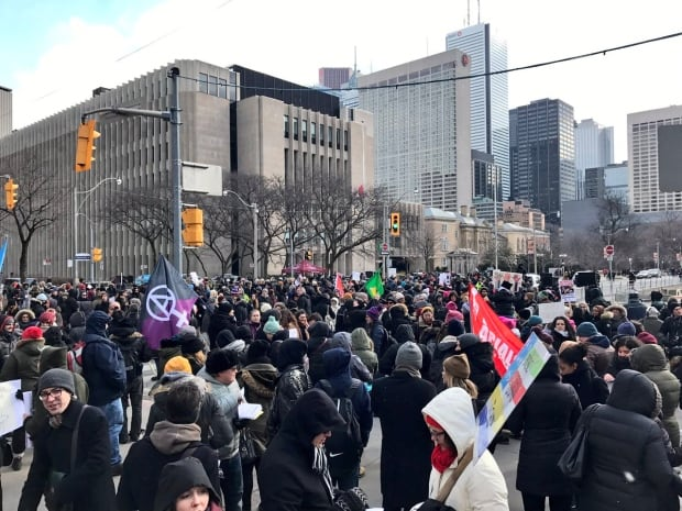 Protesters march in Toronto, US and Britain over Islamophobia, travel bans