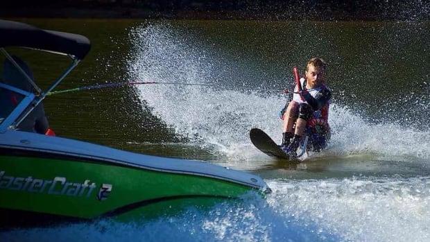 Sask. adaptive water skier Blake Lamontagne competes in North Carolina.
