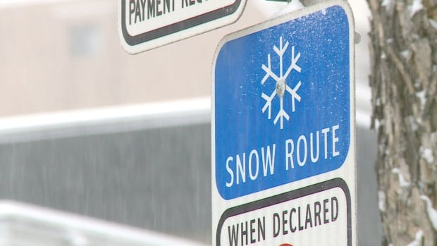 Snow route parking ban in place in Calgary