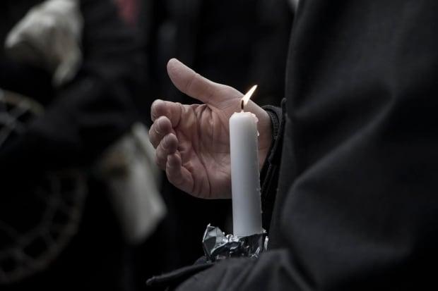 Vancouver Fentanyl Vigil candle