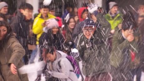 UBC snowball fight