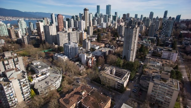 Condos and apartment buildings are seen in downtown Vancouver, B.C., on Thursday February 2, 2017.
