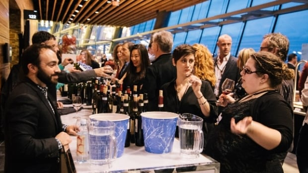Wine lovers at a tasting room during the 2016 Vancouver International Wine Festival. The 2017 edition will highlight Canadian wines.