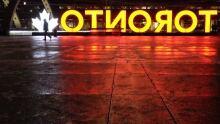 Toronto Nathan Phillips Square freezing rain