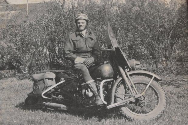William Berrow on motorcycle