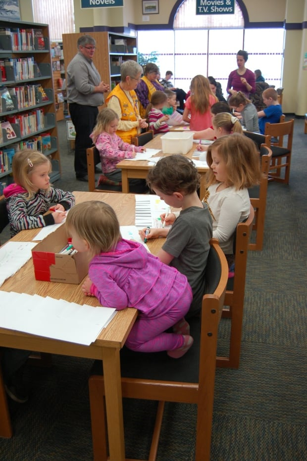 March break activity at the Four Fathers Library in Amherst