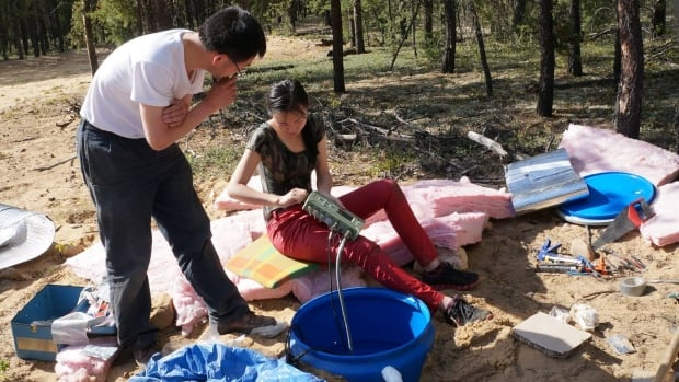 University of Alberta PhD student Ruijia Wang (right) co-authored a research paper that showed earthquakes caused by hydraulic fracturing are becoming larger and more frequent in Alberta.