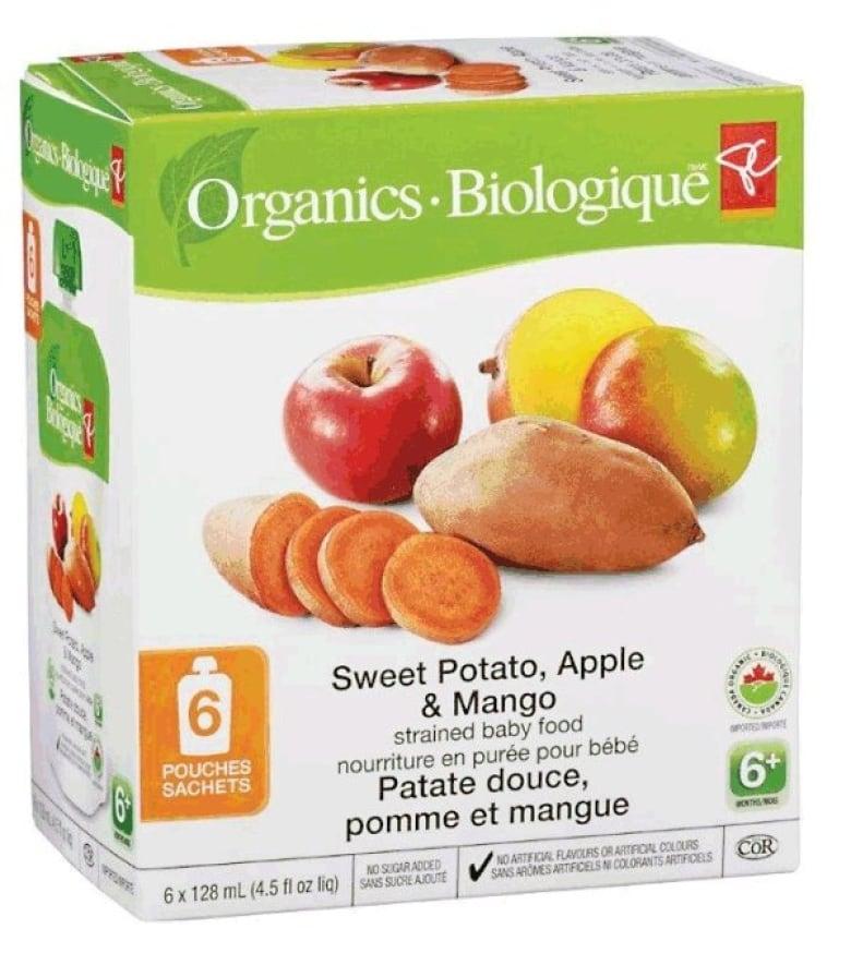 Organics Baby Food Recall
