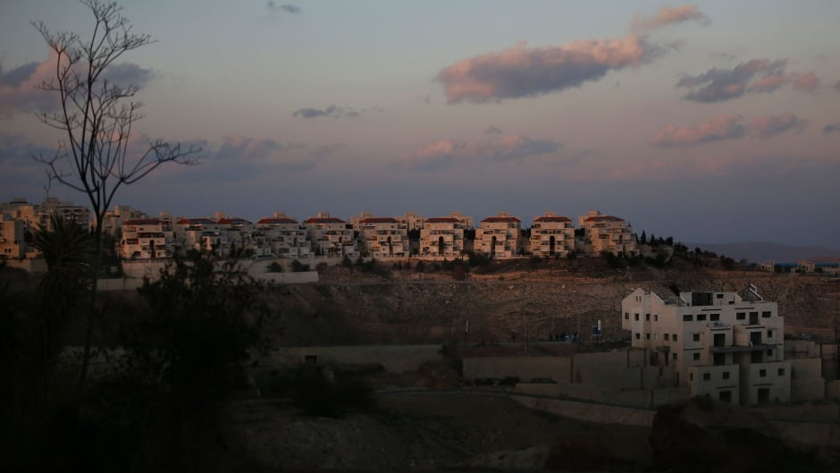 A general view taken on February 1, 2017 shows buildings under construction in the Israeli settlement of Maale Adumim, east of Jerusalem, in the occupied West Bank.