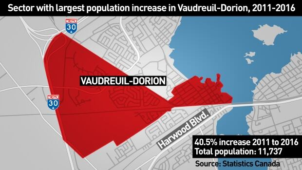 Vaudreuil-Dorion census tract map