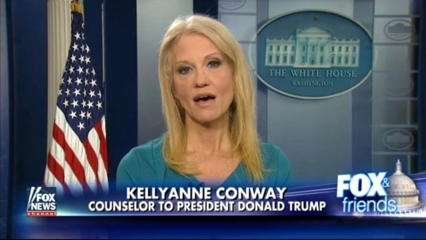 "This frame grab from video provided by Fox News shows White House adviser Kellyanne Conway during her interview with Fox News Fox and Friends. Conway defended Ivanka Trump's fashion company, saying Trump is a ""successful businesswoman"" and people should give the company their business."