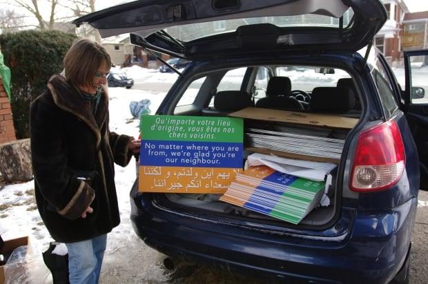 Nancy Dykstra Arabic welcome signs