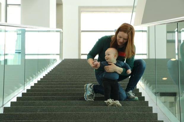 Sarah Lolley Rowan steps museum