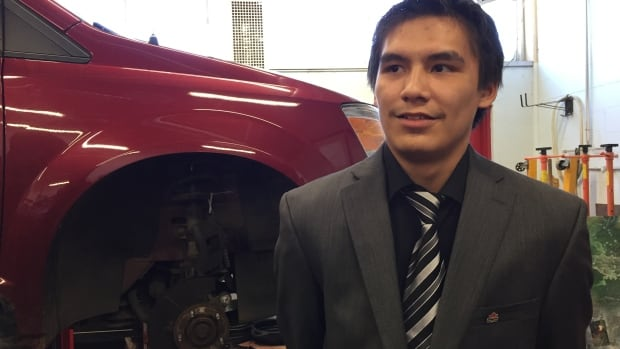 'There's a lot of opportunity out there,' says Soda Kakegamic, 20, who is looking forward to using the skills he's learning at trade school in Thunder Bay, when he gets back home to Keewaywin First Nation.