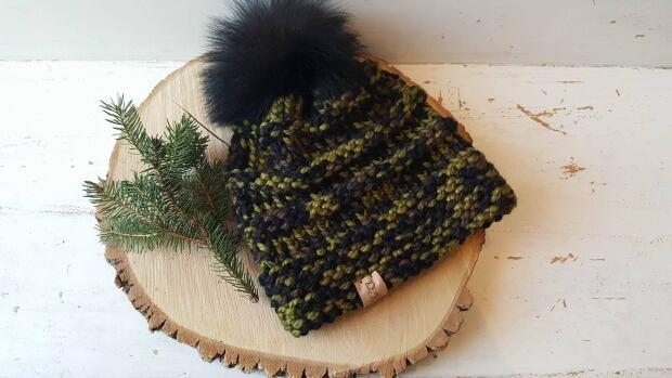 Fur pom-pom hat by Copper Fox