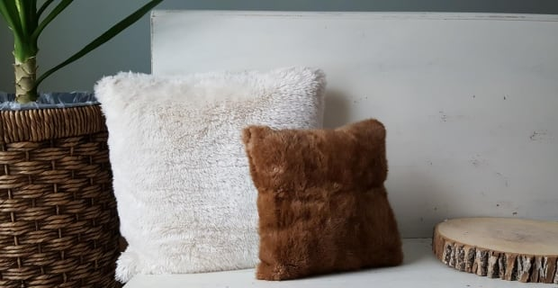 Fur pillows by P.E.I. artisan Copper Fox