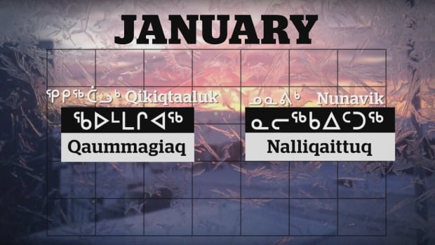 CBC North's Aseena Mablick brings you the Inuktitut names of the months, which have a lot to do with Inuit culture and land.