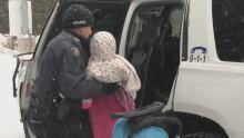 girl quebec border crossing
