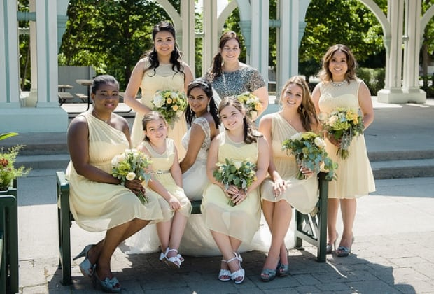 Shaaz Jusko Friedman and her bridesmaids