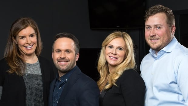 Spend your weekday afternoons with the Here and Now crew: (left to right) Host Gill Deacon, meteorologist Jay Scotland, traffic reporter Collette Kennedy and news presenter Matt Llewellyn.