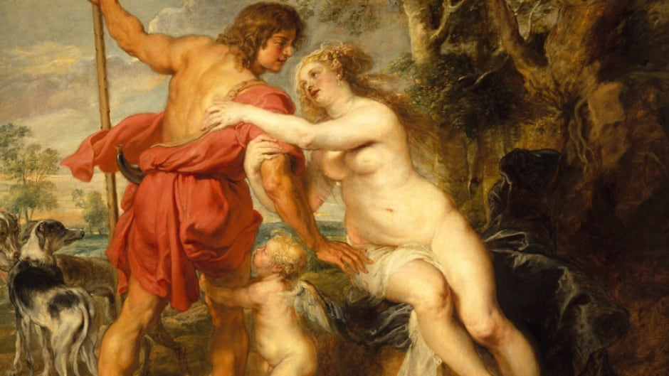 "Detail from ""Venus and Adonis"" by Peter Paul Rubens (c. mid-1630s)."