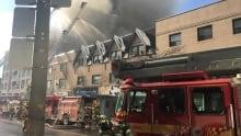 Fire, Yonge St Clair, midtown, Toronto