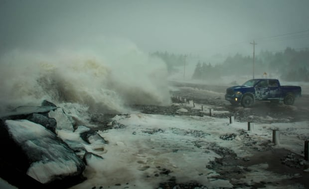 Lawrencetown beach storm surge