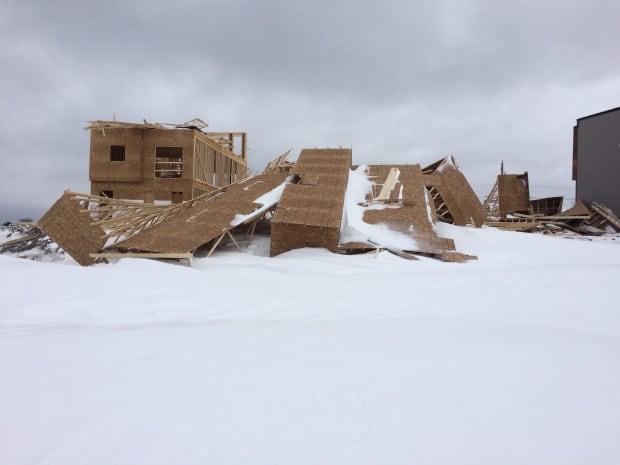 houses blown down