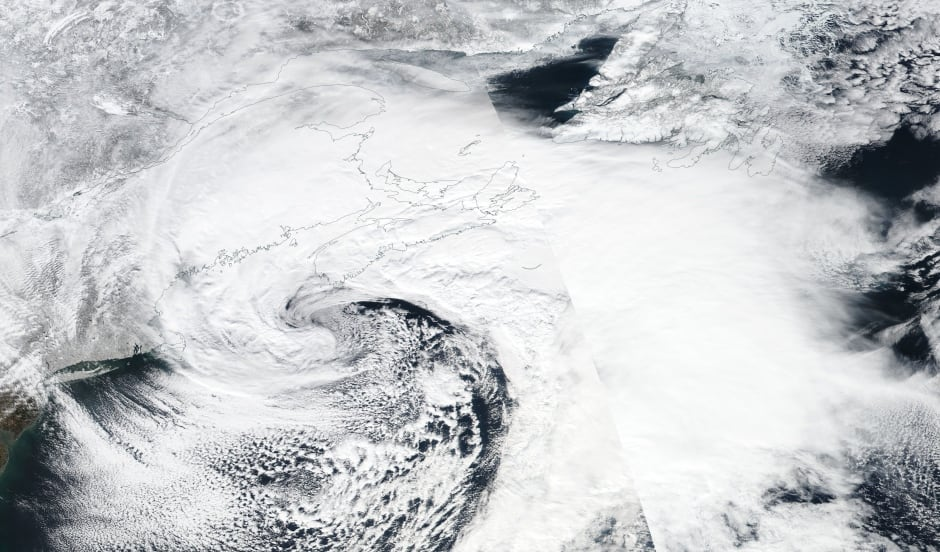 NASA Nova Scotia blizzard