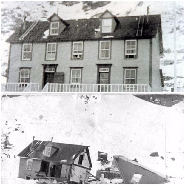 Tilt Cove avalanche before and after